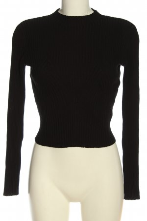 H&M Cropped Pullover schwarz Casual-Look