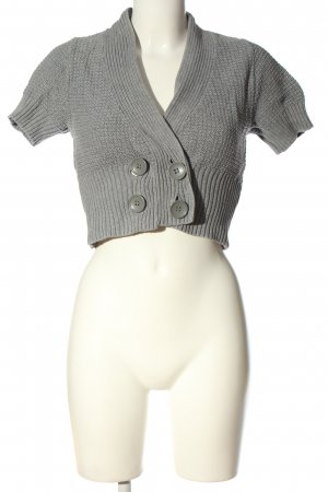 H&M Cropped Pullover hellgrau meliert Casual-Look