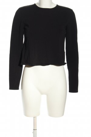 H&M Cropped Shirt schwarz Casual-Look