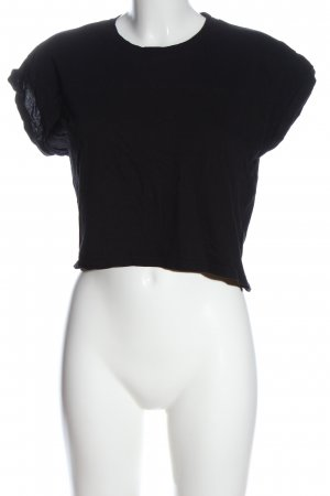 H&M Cropped Shirt black casual look