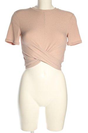 H&M Camisa recortada rosa look casual