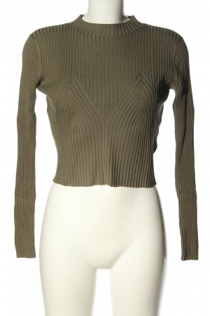 H&M Cropped Shirt khaki Zopfmuster Casual-Look