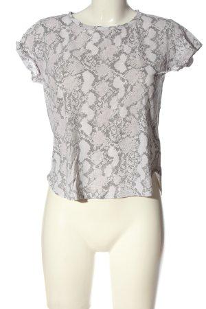 H&M Camisa recortada gris claro estampado repetido sobre toda la superficie
