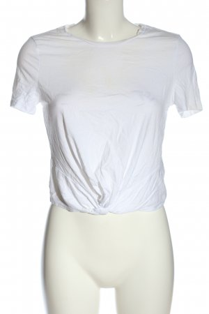 H&M Cropped Shirt weiß Casual-Look