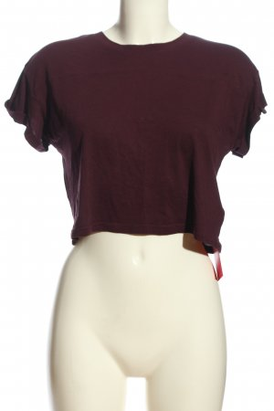 H&M Cropped Shirt lila Casual-Look
