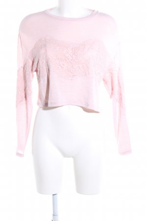 H&M Cropped Shirt pink Blumenmuster Casual-Look