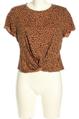 H&M Cropped shirt licht Oranje-zwart volledige print casual uitstraling
