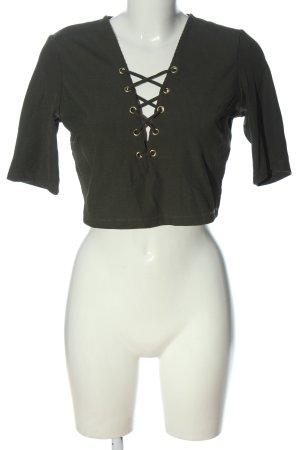 H&M Cropped Shirt khaki Casual-Look