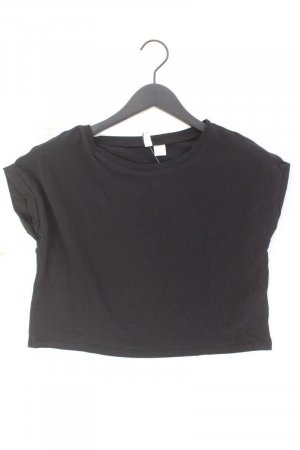 H&M Camisa recortada negro Algodón