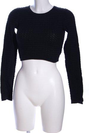 H&M T-shirt court noir style décontracté
