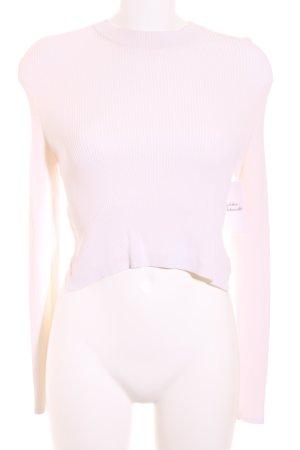 H&M Cropped Shirt wollweiß Wickel-Look