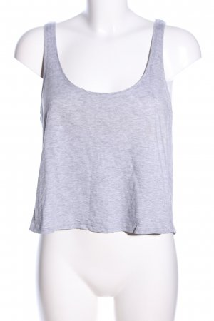 H&M Cropped top lichtgrijs gestippeld casual uitstraling