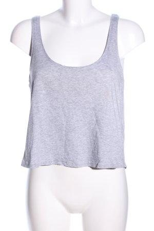 H&M Top corto grigio chiaro puntinato stile casual