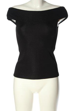 H&M Cropped Top schwarz klassischer Stil