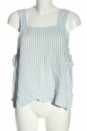 H&M Cropped Top blau-weiß Streifenmuster Casual-Look
