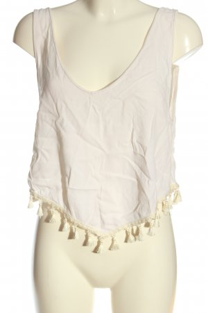 H&M Cropped top wolwit casual uitstraling