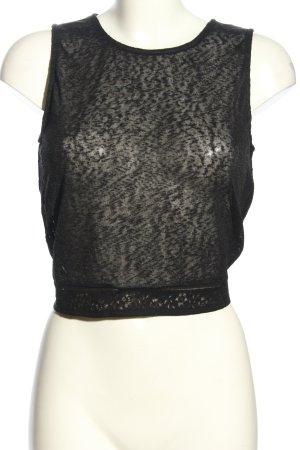 H&M Top recortado negro look casual