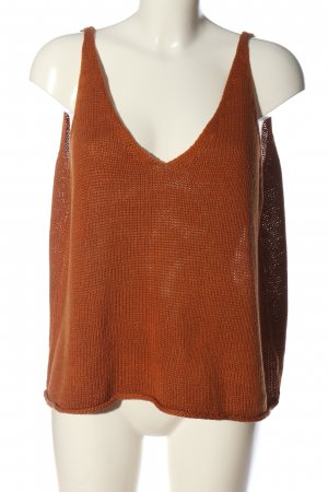 H&M Cropped Top hellorange Zopfmuster Casual-Look