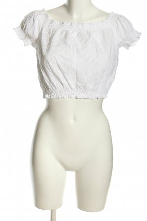 H&M Cropped Top weiß Casual-Look