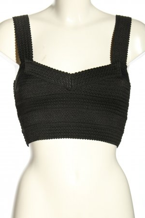 H&M Cropped Top schwarz Casual-Look