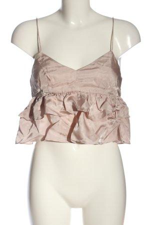 H&M Top recortado rosa estampado a rayas elegante