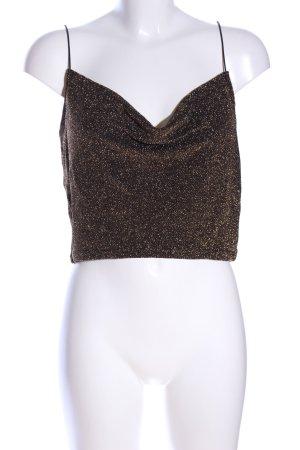 H&M Cropped Top bronzefarben-goldfarben meliert Elegant
