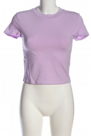 H&M Cropped Top lila Casual-Look