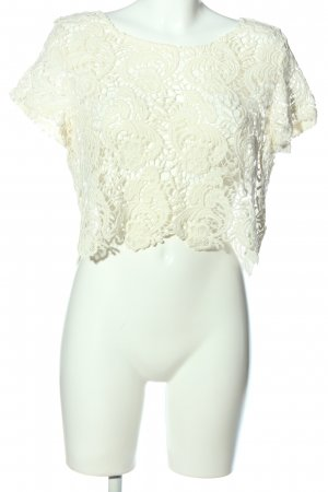 H&M Top o skróconym kroju biały Elegancki