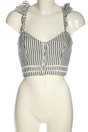H&M Cropped Top schwarz-weiß Streifenmuster Casual-Look