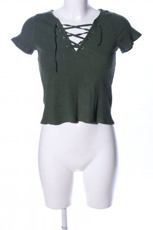 H&M Cropped top khaki casual uitstraling