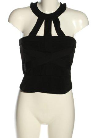 H&M Cropped Top schwarz Streifenmuster Casual-Look