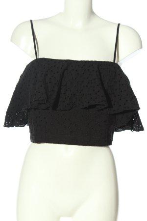H&M Top corto nero stile casual