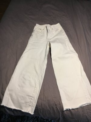 H&M Hoge taille jeans wolwit-wit Katoen