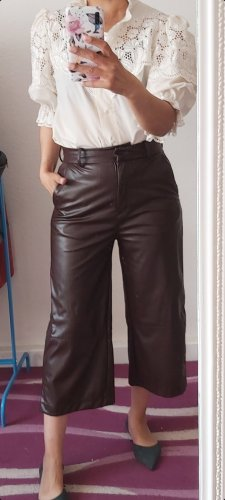 H&M Falda pantalón de pernera ancha marrón-marrón oscuro