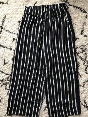 H&M Pantalone culotte blu scuro-bianco