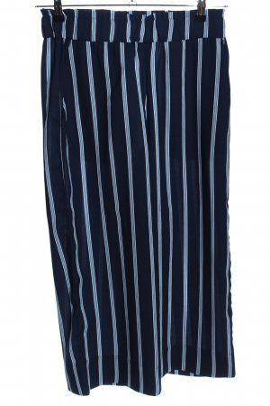 H&M Culottes blau-weiß Streifenmuster Casual-Look