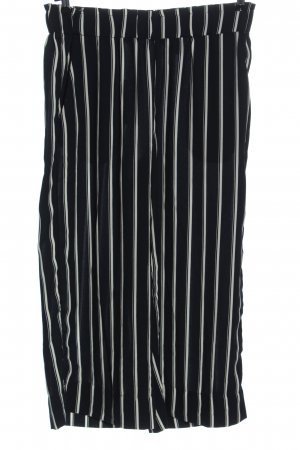 H&M Culottes black-white striped pattern business style