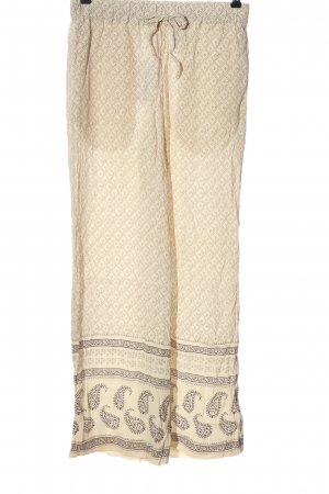 H&M Culottes natural white-brown allover print casual look