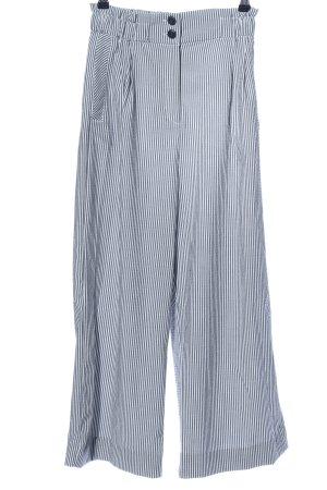 H&M Culottes weiß-blau Streifenmuster Casual-Look