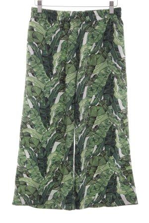 H&M Culottes grün-weiß Allover-Druck Casual-Look