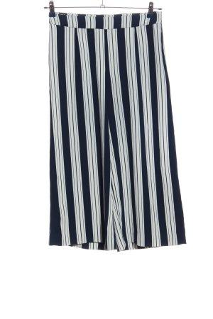 H&M Culottes black-white striped pattern casual look