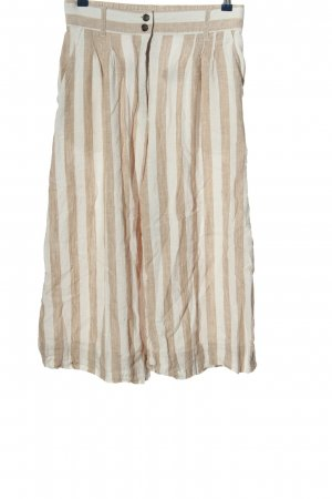 H&M Culottes creme-wollweiß Streifenmuster Casual-Look
