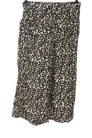 H&M Culottes schwarz-creme Allover-Druck Casual-Look