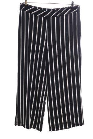 H&M Pantalone culotte nero-bianco stampa integrale stile professionale