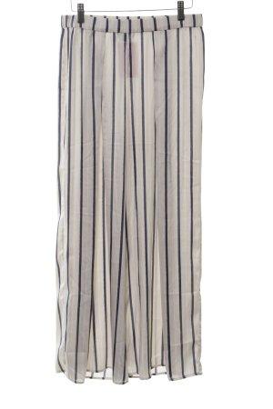H&M Culottes blau-wollweiß Streifenmuster Casual-Look