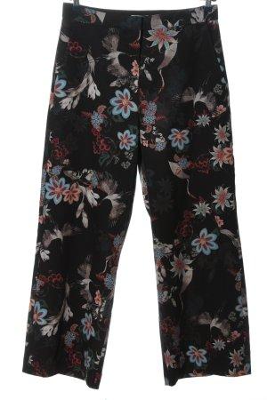 H&M Falda pantalón de pernera ancha estampado floral look casual