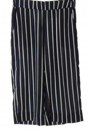 H&M Kuloty czarny-biały Wzór w paski W stylu casual
