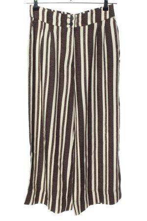 H&M Culottes braun-creme Streifenmuster Casual-Look