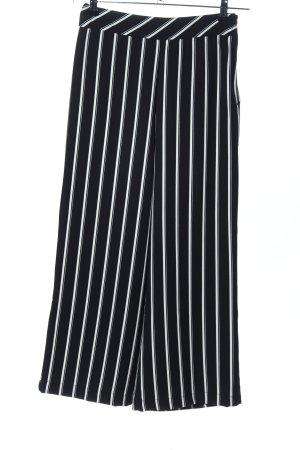 H&M Pantalone culotte nero-bianco motivo a righe stile professionale