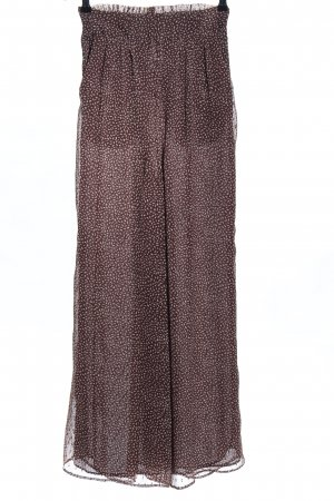H&M Culottes braun-wollweiß Allover-Druck Casual-Look